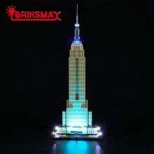 BriksMax светодиодные комплект для 21046 архитектуры Эмпайр-стейт-билдинг игрушки блоков модель комплект освещения только