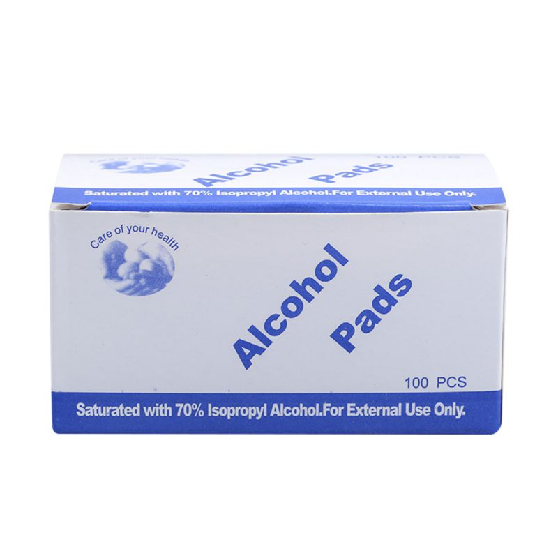 Portable 100PCS Professional Alcohol Swabs Pads Wet Wipes 70% Isopropyl First Aid Home Skin Cleanser Sterilization Anti Virus