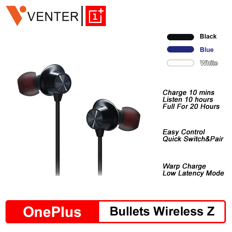 In Stock Original OnePlus Bullets Wireless Z Earphones Magnetic Control Quick Switch Pair Warp Fast Charge