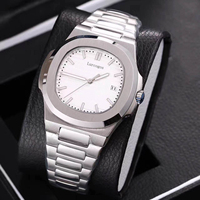 HOt Sale watch mens mechanical watches sapphire glass blue dial stainless steel bracelet sports watch Glide sooth second hand w