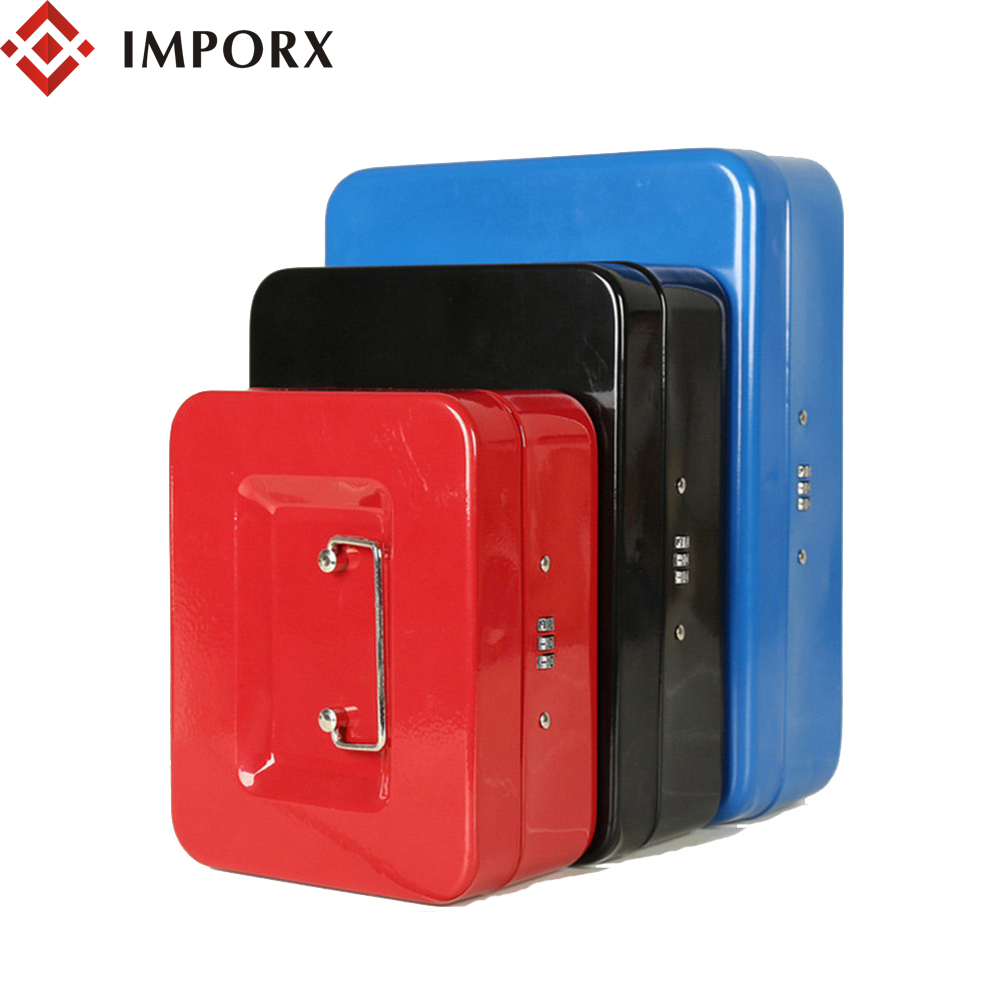 IMPORX Mini Stainless Steel Secret Box Portable Security Safe Box Password Lock Money Jewelry Storage Metal Box For Home 3 Color