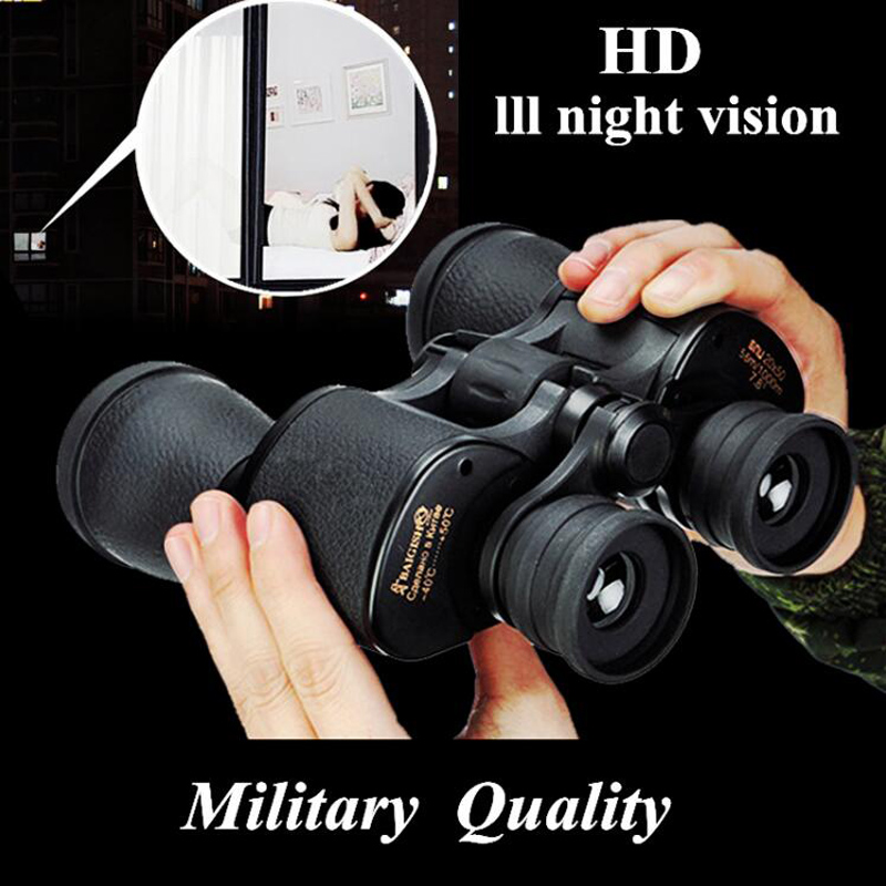 Tools : Baigish 20x50 Military Binoculars Hd Powerful Spyglass High Clarity Telescope Bak4 Prism Lll Night Vision For Hunting Camping