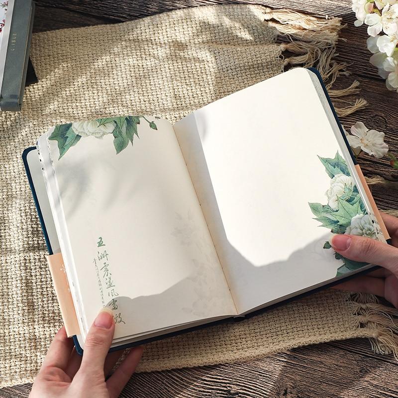 Цветной блокнот с внутренней страницей в китайском стиле, креативный дневник в твердой обложке, книги, Еженедельный планировщик, книга для скрапбукинга, красивый подарок 3