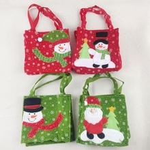 Portable Candy Treats Bags Christmas Tote Candy Bag Stocking