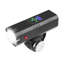 Bike-Lamp Headlight Led-Torch 1200mah-Flashlight 1000LM Usb Rechargeable Cycling Rainproof