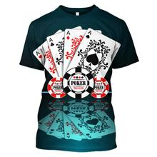 LBG New Poker T-Shirt Men and Women 3D Printed Street Fashion Short Sleeve Casual