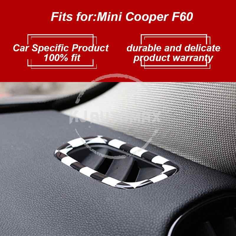 KJAUTOMAX pour Mini Cooper F60 sortie décoration matériel ABS rouge rose damier 2 pièces/ensemble