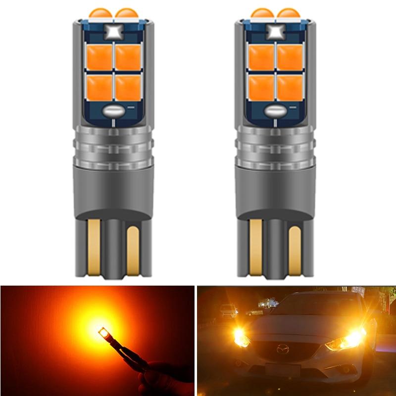 2pcs High Quality T10 W5W Super Bright Car Interior Reading Dome Light Marker Lamp 168 194 LED Auto Wedge Parking Bulbs Orange