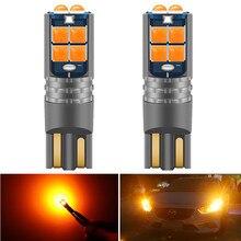 Lâmpada de led automotiva super brilhante, 2 peças, t10 w5w, para leitura, domo, para carro, 168 194 lâmpadas de estacionamento laranja