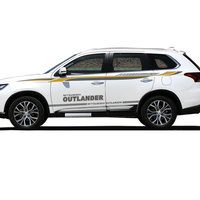 World Datong car styling sport car sticker car accessories For Mitsubishi Outlander 2018 Both Side Sticker Car styling