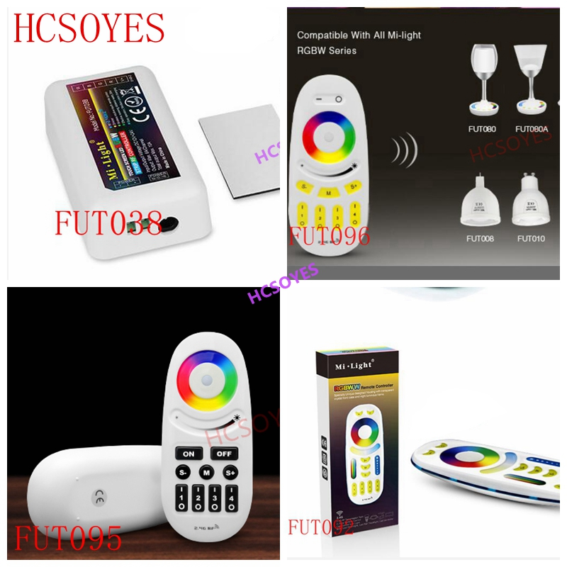 DC12 24V Mi Light Wireless 10A 2.4G 4 Zone RF Wireless RGBW LED remote WIFI Controller Dimmer For 5050 3528 Led Strip Light bulb-in RGB Controlers from Lights & Lighting