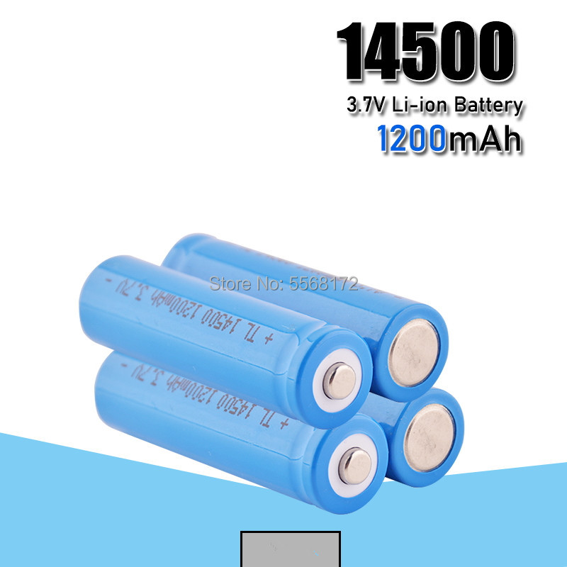 <font><b>14500</b></font> 1200mah <font><b>Li</b></font>-<font><b>ion</b></font> Rechargeable Batteries <font><b>3.7V</b></font> Volt <font><b>14500</b></font> Lithium Battery For Camera Torch Toy image