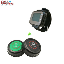 1 Watch Pager Receiver+8 Call Button 433MHz Restaurant Pager Wireless Calling System Waiter Call Pager System daytech wireless pager calling system waiter nurse call button 1 panel transmitter and 5 pcs call buzzer receivers