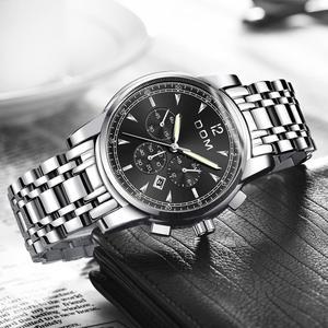 Image 3 - DOM montres de sport pour hommes, chronographe de marque, étanche, à Quartz lumineux, en acier, montre pour hommes