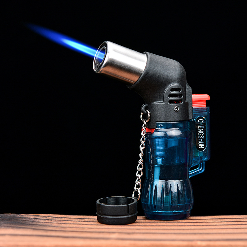 Gas Lighters Igniter Cigars Blower Gun Moxibustion Point Incense Barbecue Welding Holder Straight Gas