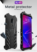 R-JUST metalowa obudowa do Meizu 16th 16 16X Meizu 16th Plus MX6 Pro 6 7 15 Plus 15 Heavy Duty Protection Batman pancerna obudowa(China)