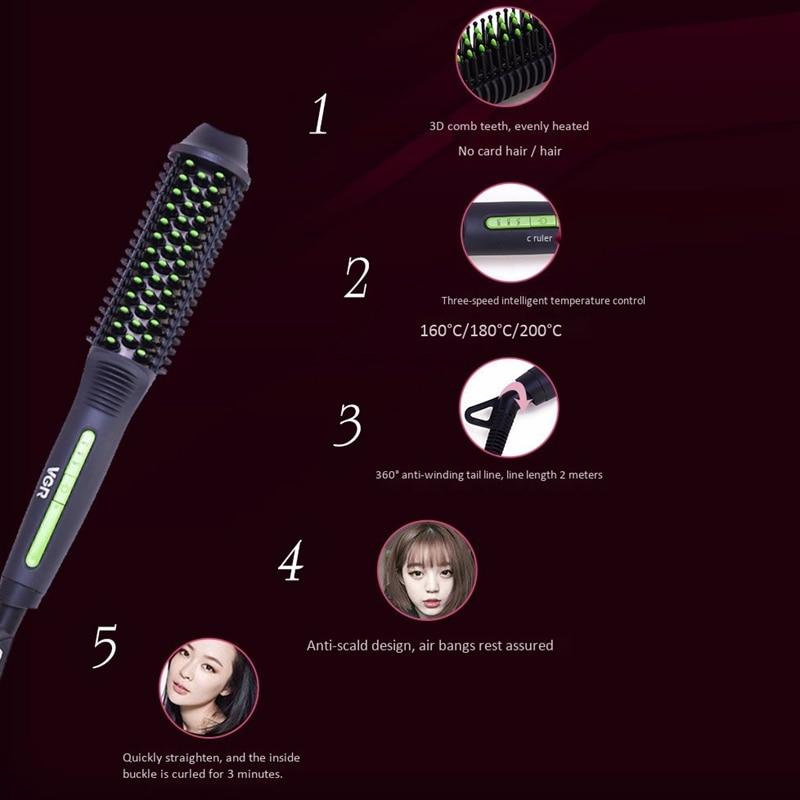 Vgr V-503 modelador de cabelo pente modelador