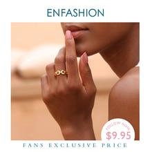 Женское кольцо с цепочкой Enfashion, кольцо золотого цвета с цепочкой, модное ювелирное изделие, RF184006