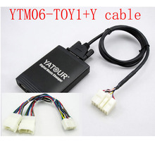 Yatour for Toyota Lexus1998 2004 Car Digital  Music Changer USB MP3 Player AUX adapter 5+7 pins+Y cable USB Car Stereo Adapter