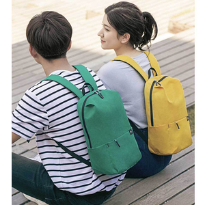 Image 2 - 2020 New Xiaomi Colorful Mini Backpack Bag 8 Colors Level 4 Water Repellent 10L Capacity 165g Weight YKK Zip Outdoor Smart Life