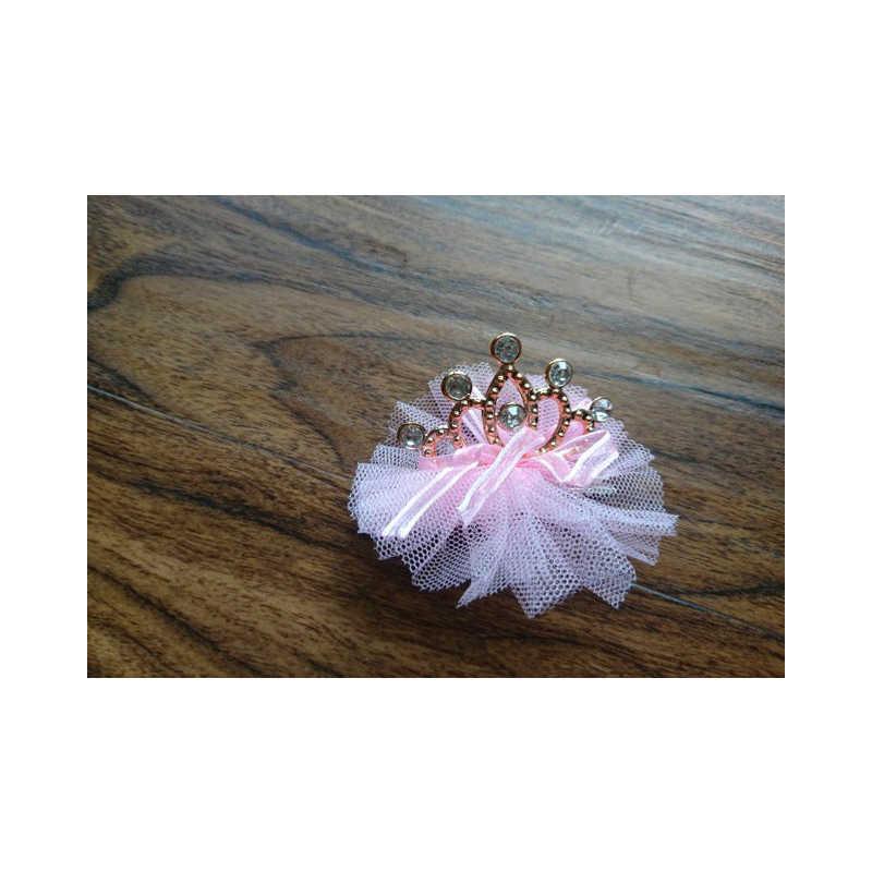 新着女の赤ちゃん子供光沢のある王冠ラインストーンヘアピン姫リボンの弓クリップ真珠バレッタアクセサリー