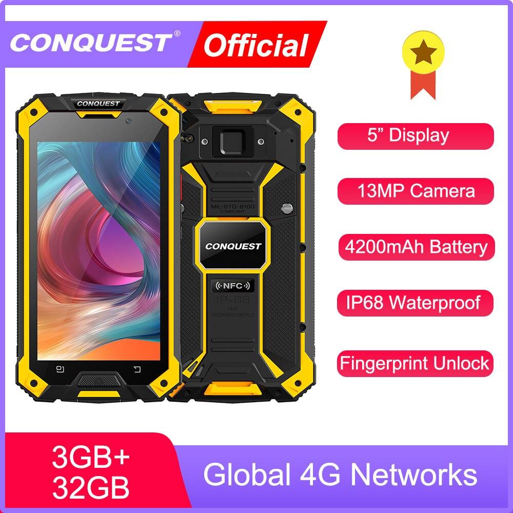 CONQUEST S6 IP68 водонепроницаемый прочный смартфон 3 ГБ 32 ГБ Android 6,0 мобильный телефон NFC/IR/SOS/OTG/FM/ Walkie Talkie сотовый телефон