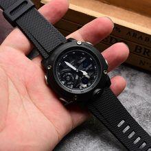 Açık spor silikon saat kayışı bileklik Casio GA 2000 akıllı saat