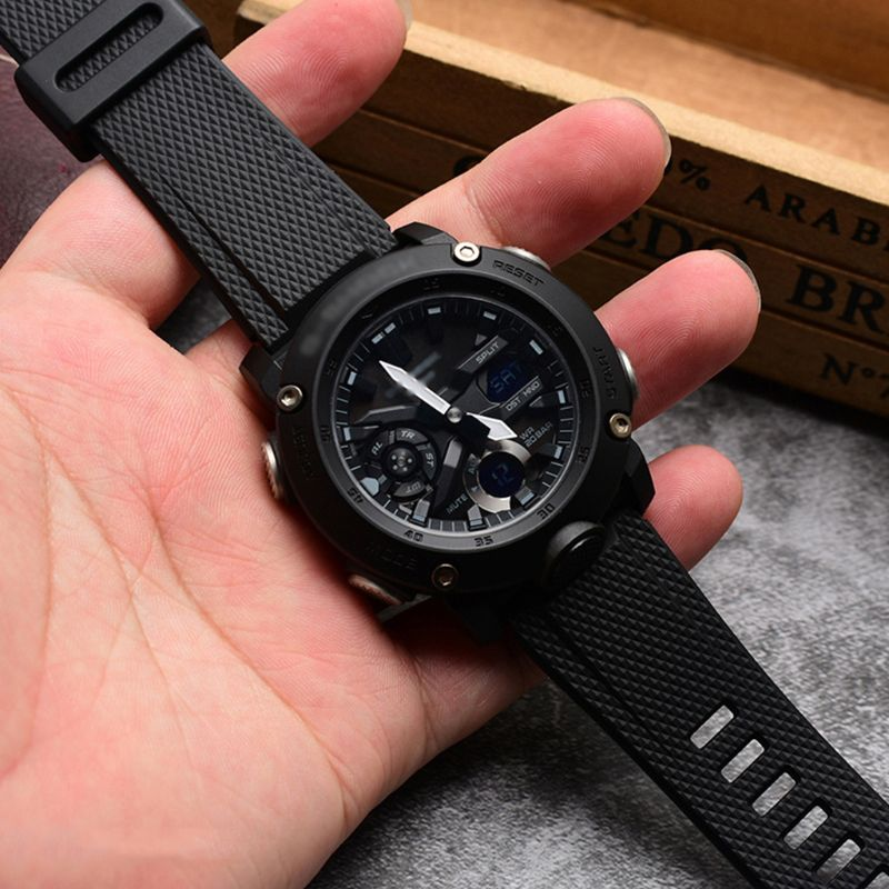 Outdoor Sports Silicone Watch Strap Wristband For Casio GA-2000 Smart Watch
