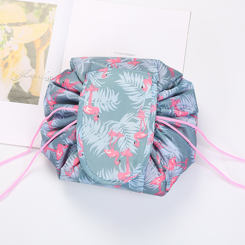 Fashion Color Drawstring Makeup Bag Quick Make Up Bag Cosmetic Bag Large Capacity High Quality Women Travel Sloth Bag Organizer