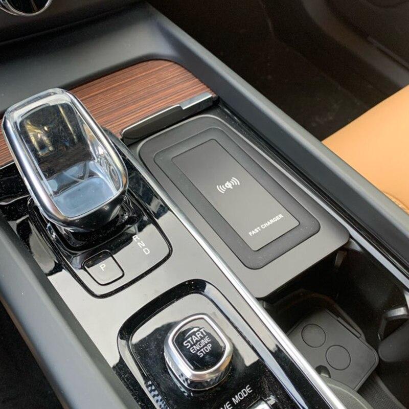 Für Volvo XC90 S90 V90 XC60 V60 C60 2018 2019 2020 auto QI wireless charging handy-ladegerät lade platte zubehör für iPhone