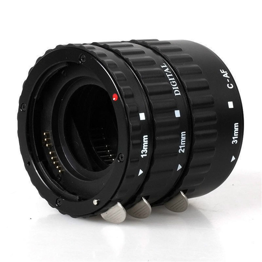 Metal Mount <font><b>Lens</b></font> Adapter Auto Focus AF Macro Extension Tube Ring For <font><b>Canon</b></font> EOS EF-S <font><b>Lens</b></font> 750D <font><b>80D</b></font> 7D T6s 60D 7D 550D 5D Mark IV image