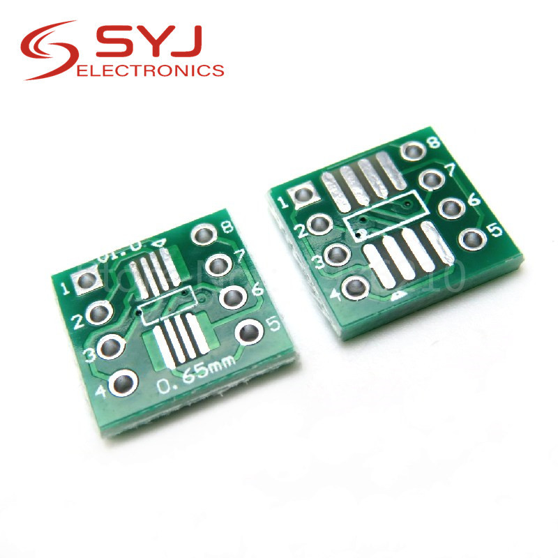 20 pçs/lote TSSOP8 SSOP8 SOP8 para DIP8 Placa PCB Placa de Transferência SOP DIP SOP-8 Pin Pitch Adaptador Em Estoque