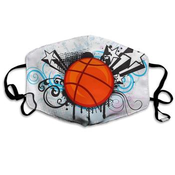 Sports Basketball Star Dust Mask, Reusable Washable Mouth Masks, Adjustable Warm Face Mask Unique Cover Filters Blocking Pollen woodyknows super defense nasal filters 2nd generation nose masks pollen allergies dust allergy relief no pm2 5 air pollution