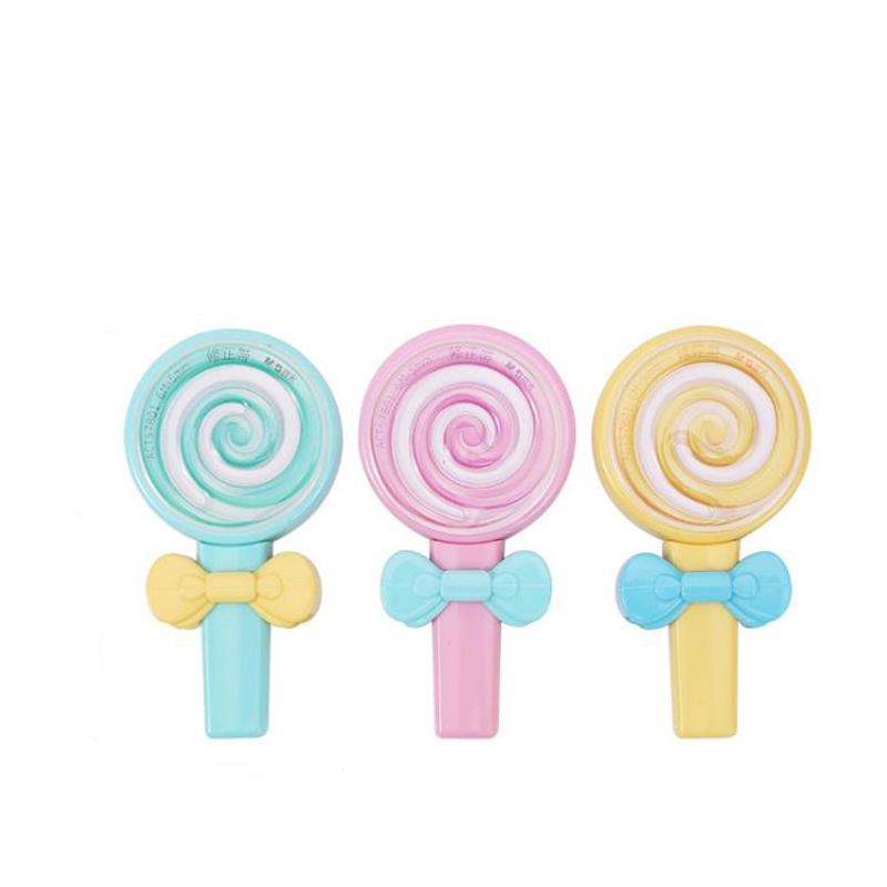1 Pcs Cute 6m Candy Lollipop Shape Correction Tapes Erasers Corrector Tools School Office Supply Student Stationery Kids Gift