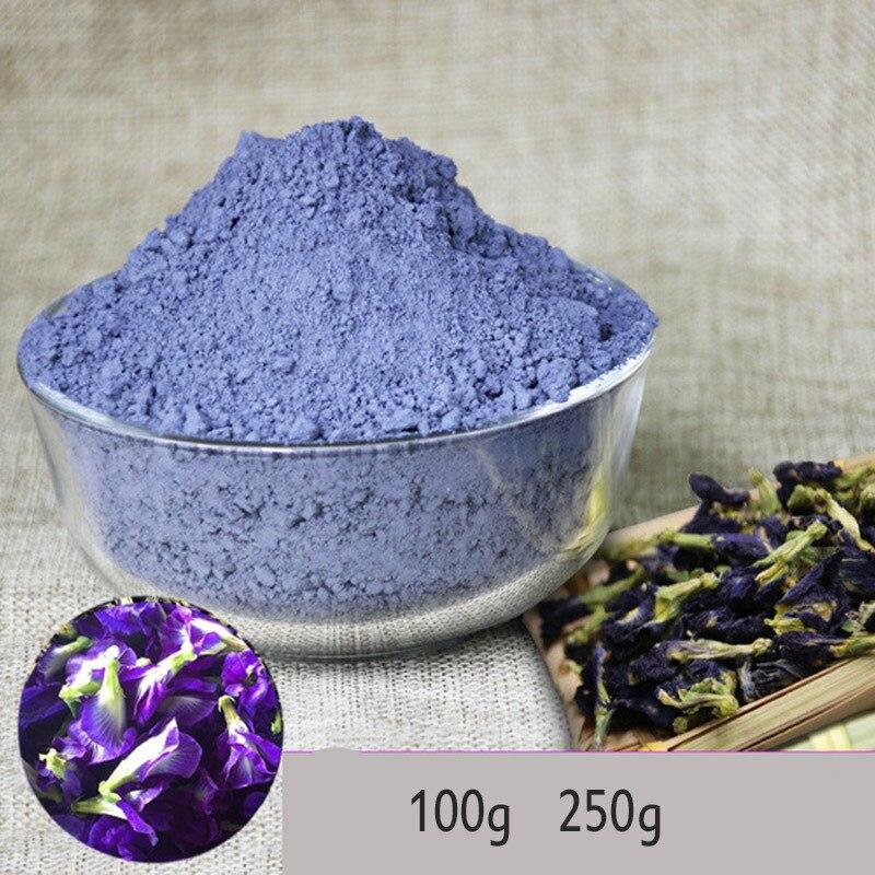 Имитация кухонной игрушки Тайланд синяя бабочка горох порошок 100 г 250 г Clitoria Terna чай тайский бабочка горох чай витамин а игрушка