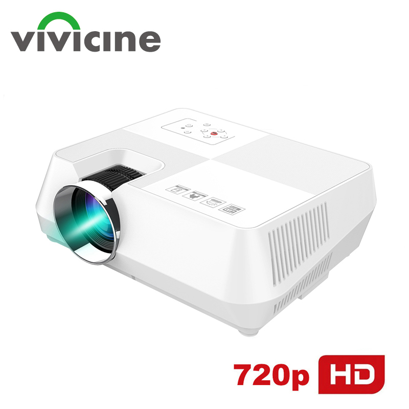 Vivicine 720P HD Projektor, optional Android WIFI Bluetooth <font><b>HDMI</b></font> USB PC Mini FÜHRTE Proyector Handheld Film Beamer für Video spiele image