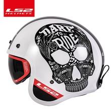 Original LS2 of599 retro motorcycle helmet can add Bubble visor LS2 spitfire vin