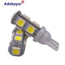 لمبة داخلية للسيارة LED ، مصباح باب LED عالي الجودة ، T10 9 SMD 5050 W5W 194 501 ، 12 فولت تيار مستمر