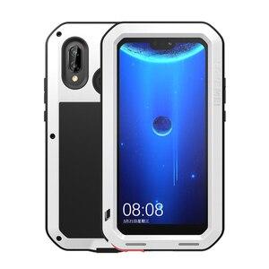 Image 4 - الحب مي المعادن حافظة لهاتف Huawei P20 لايت للصدمات الهاتف غطاء لهواوي نوفا 3E Fundas وعرة درع حافظة لهاتف Huawei P20 لايت