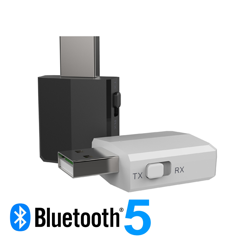 USB <font><b>Bluetooth</b></font> <font><b>5.0</b></font> <font><b>Adapter</b></font> Transmitter TV Receiver 3 In 1 <font><b>Bluetooth</b></font> Wireless <font><b>Adapters</b></font> For <font><b>PC</b></font> Car Kit With Switch Button image