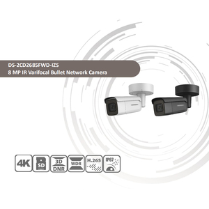 Image 2 - Hikvision המקורי DS 2CD2685FWD IZS Bullet מצלמה 8MP POE CCTV מצלמה 50m IR טווח IP67 IK10 H.265 + 2.8 12mm זום