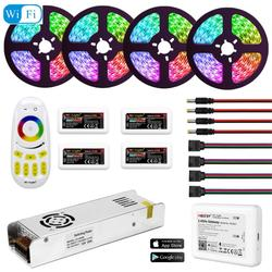 5050 RGBW RGBWW RGB Mi Licht WIFI LED Strip Waterdicht 5M 10M 15M 20M DC 12V LED Licht 60led/m Met RF Afstandsbediening Power