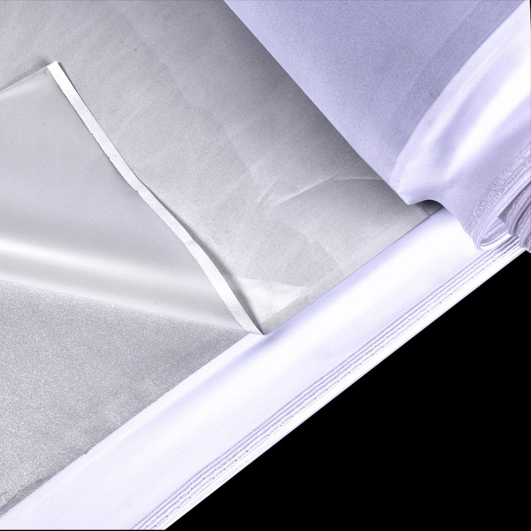 Currently Available Supply Bright Silver Double-Sided Reflection Elastic Fabric Lycra Cloth Base Single Side Reflective Fabric G