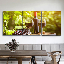 Laeacco Canvas Painting Calligraphy Abstract French Vineyard Wine Bottle Posters Prints Decorative Wall Artwork for Living Room