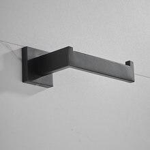 Черный держатель для туалетной бумаги стойка салфеток ванной