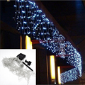 4M Solar Lamp String Droop 0.6m Solar Garland Icicle Lights for Outdoor Garden Fence Balcony Eaves Corridor Terrace Decoration