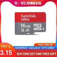 Cartão de memória do micro sd de sandisk 16 gb 32 gb 64 gb 128 gb microsd max 80 m/s uitra c10 tf c4 8g cartao de memoria para o portátil
