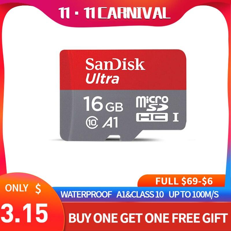 SanDisk Micro SD Card Memory Card 16GB 32GB 64GB 128GB MicroSD Max 80M/s Uitra C10 TF Card C4 8G Cartao De Memoria For Laptop