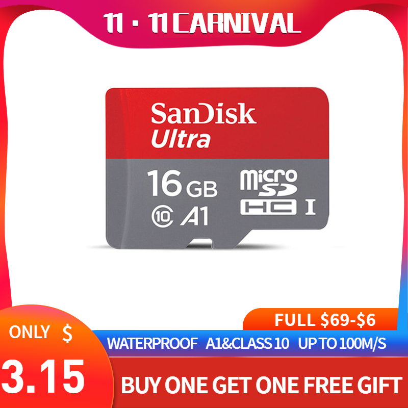 SanDisk tarjeta Micro SD tarjeta de memoria de 16GB 32GB 64GB MicroSD de 128GB máx. 80 M/s Uitra C10 TF tarjeta C4 8G cartao de memoria para computadora portátil