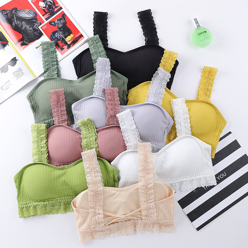 Bras Women Sexy Sports Tops Full Cup Breathable Top Shockproof Push Up Workout Bra For Women Gym Laces Yoga Top Fitness Bra Girl